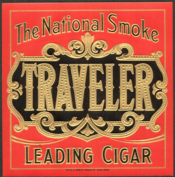 #ZLSC111 - Traveler Outer Cigar Box Label
