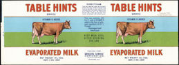 #ZLCA314 - Table Hints Brand Milk Can Label - Cows - Chicago, IL