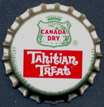 #BC160 - Cork Lined Canada Dry Tahitian Treat Soda Bottle Cap - As low as 15¢ each