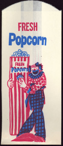 #PC089 - Tall Clown Fresh Popcorn Bag