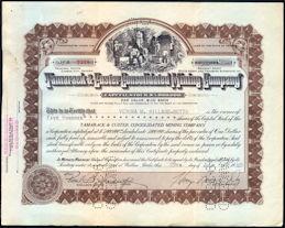 #ZZCE083 - Tamarack & Custer Mining Company Stock Certificate