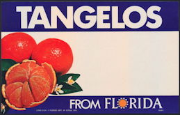 #SIGN186 - Tangelos From Florida Grocery Store Sign