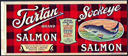 #ZLCA253 - Tartan Sockeye Salmon Can Label