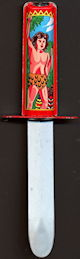 #TY118 - Tarzan  Japan Tin Litho Retracting Knife