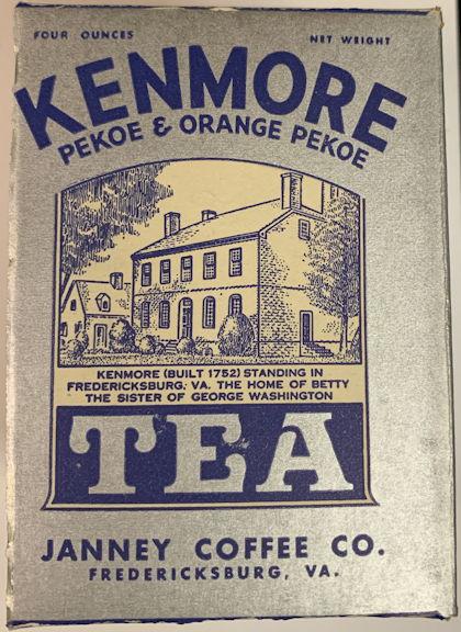 #CS411 - Kenmore Tea Box Picturing the Home of George Washington's Sister in Fredericksburg, VA