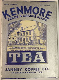 #CS411 - Kenmore Tea Box Picturing the Home of George Washington's Sister in Fredericksburg, VA