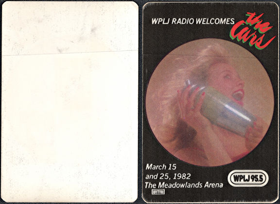 ##MUSICBP0004  - 1982 The Cars Radio Promo OTTO Backstage Pass - WPLJ