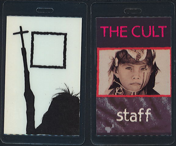 ##MUSICBP0469 - 1991 The Cult Laminated Backstage Pass from the Ceremonial Stomp Tour