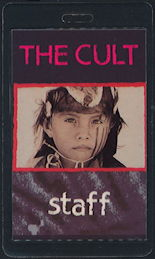 ##MUSICBP0469 - 1991 The Cult Laminated Backstage OTTO Staff Backstage Pass from the Ceremonial Stomp Tour