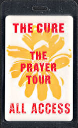 "##MUSICBP0610 - Rare 1989 The CureAll Access Laminated OTTO Backstage Pass from the ""The Prayer Tour"""