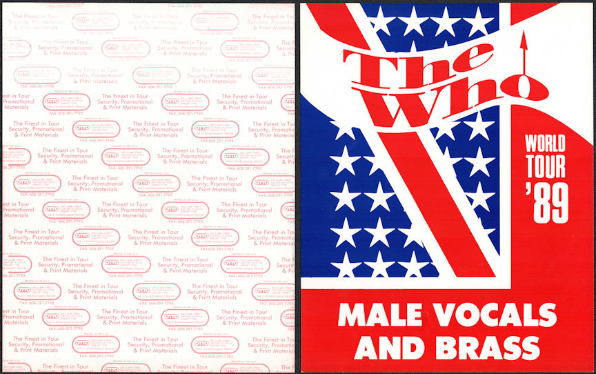 ##MUSICBG0132 - The Who OTTO  Male Vocals and Brass Door Sign from the 1989 The Kids Are Alright World Tour