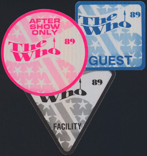 ##MUSICBP0200 - The Who OTTO Backstage Pass from the 1989 The Kids are Alright Tour - as low as $3.00 each