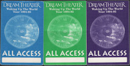 ##MUSICBP0860 - Group of 3 Different Cloth All Access Dream Theater Backstage Passes from the 1994/95 Waking Up the World Tour