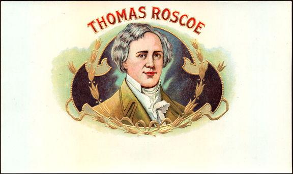 #ZLSC105 - Thomas Roscoe Inner Cigar Box Label