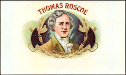 #ZLSC105 - Thomas Roscoe Inner Cigar Box Label