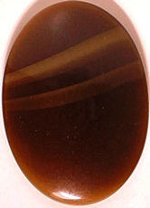 #BEADS0511 - Large 24mm Oval Tiger Eye Glass Cabochon - As low as 35¢ each