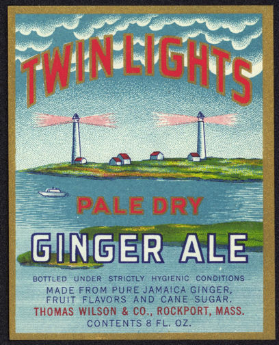 #ZLS128- Twin Lights Ginger Ale Label