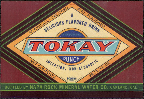 #ZLS238 - Uncommon Tokay Punch Soda Bottle Label