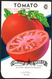 #CE081 - June Pink Tomato Lone Star 10¢ Seed Pack - As Low As 50¢ each
