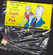 #TY578 - Bloody Tooth on a Toothpick Gag - As low as $1 each