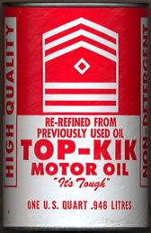 #CA129  - Top-Kik Oil Can Bank