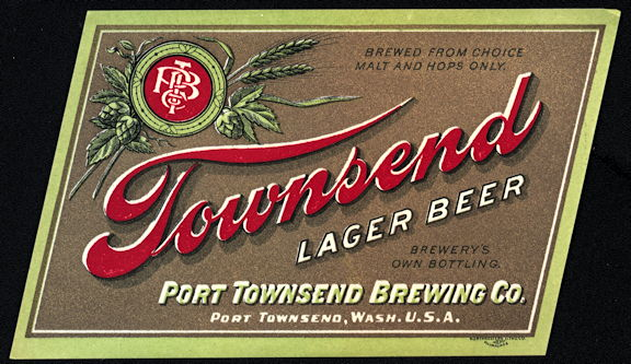 #ZLBE104 - Pre Prohibition Townsend Lager Bottle Label