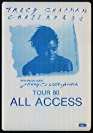 ##MUSICBP0293 - Tracy Chapman OTTO Cloth All Access Backstage Pass from 1990 Crossroads Tour