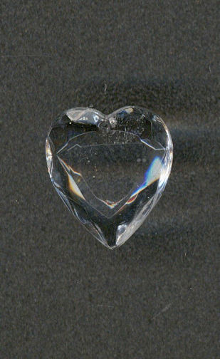 #BEADS0655 - 18mm Cut Crystal Heart Shaped German Glass Pendant - As Low as 40¢