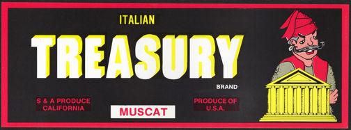 #ZLSG060 - Italian Treasury Grape Crate Label