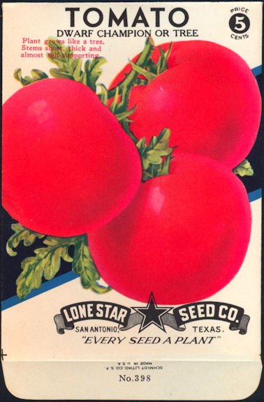 #CE079 - Brightly Colored Dwarf Tree Tomato Lone Star 5¢ Seed Pack - As Low As 50¢ each