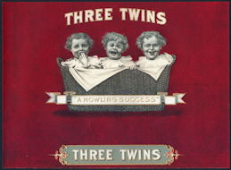 #ZLSC100 - Three Twins Cigar Label