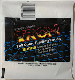 #ZZA271 - Group of 4 Tron Wax Pack Card Wrappers