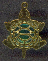 #BEADSC0260 - Translucent Green Turtle Charm - As low as 15¢