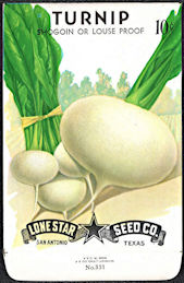 #CE082.1 - Shogoin/Louse Proof Turnip Lone Star 10¢ Seed Pack - As Low As 50¢ each