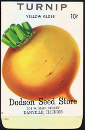 #CE144 - Yellow Globe Turnip Dodson 10¢ Seed Pack