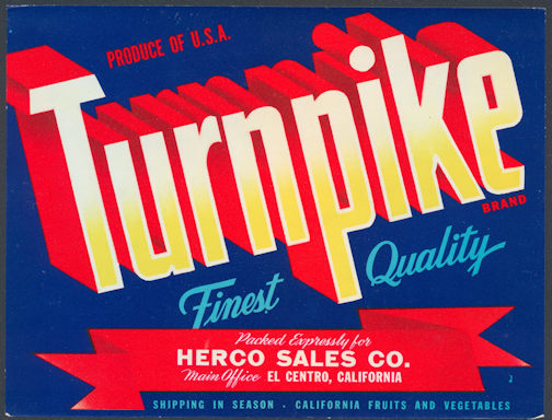 #ZLCA*038 - Turnpike Produce Crate Label - As low as 35¢ each