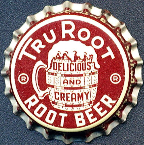 #BC169 - Group of 10 Scarce Cork Lined Tru Root Beer Bottle Caps