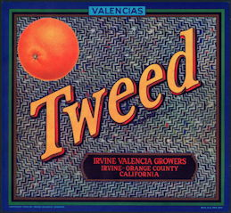 #ZLC440 - Tweed Valencias Orange Crate Label