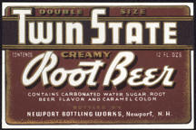 #ZLS154 - Twin State Root Beer Bottle Label