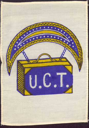 #SIGN109 - Rare Early U.C.T. (Order of United Commercial Travelers) Very Large Silk