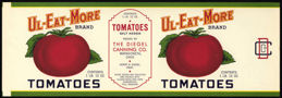 #ZLCA187 - Large Ul-Eat-More Brand Tomato Can Label