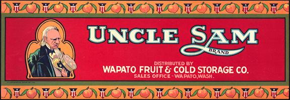 #ZLCA*057 - Uncle Sam Apricot Crate Label
