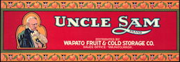 #ZLCA*057 - Uncle Sam Apricot Crate Label