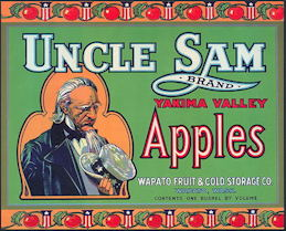 #ZLC365 - Uncle Sam Apple Crate Label - Green Version