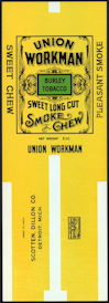 #ZLT041 - Scotten, Dillon Tobacco Union Workman Tobacco Pack Label