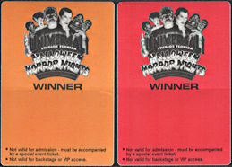 ##MUSICBP0878 - Pair of 1992 Universal Studios Halloween Horror Nights OTTO Cloth Winner Pass/Sticker - Frankenstein, Dracula, Wolfman, etc. Pictured