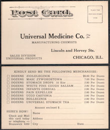 #ZZZ026 - Early Universal Medicine Ordering Postcard