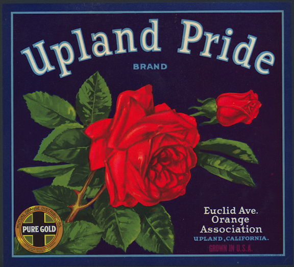 #ZLC435 - Upland Pride Orange Crate Label