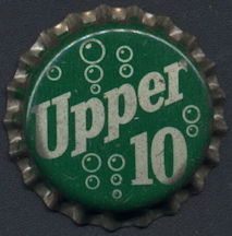 #BC150 - Group fo 10 Cork Lined Upper 10 Soda Bottle Caps