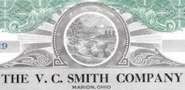 #ZZCE090 - The V. C. Smith Company Stock Certificate - Marion, Ohio